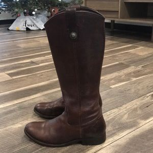 Authentic Frye vintage brown leather boots sz 8.5